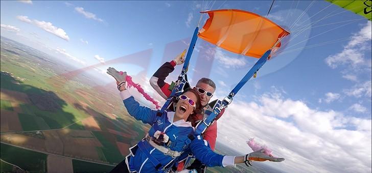 saut en parachute hendaye