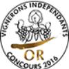 Concours Vignerons Indépendants: Médaille d'Or