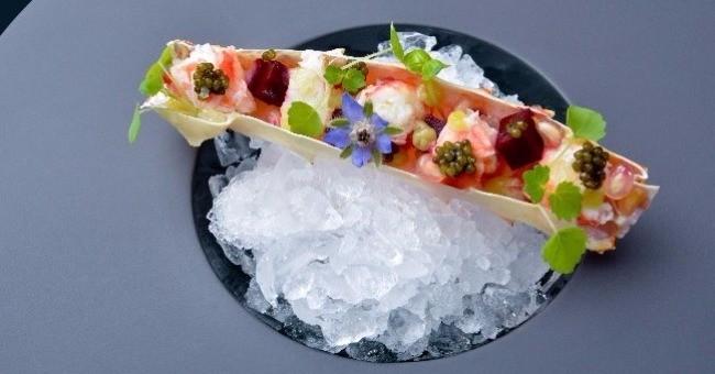 dessert compositions originales de Plats au restaurant de Marc de Passorio à Aix-en-Provence L'Esprit de la Violette