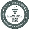 Médaille d'Argent au Challenge for the best French Wine for the USA