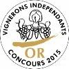Concours des Vignerons Indépendants : médaille d'or