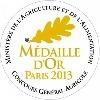 Médaille d'Or 2013 au Concours Général Agricole de Paris
