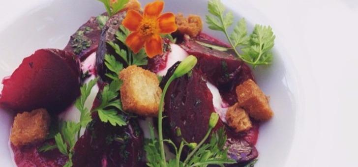 entree-burrata-et-betterave-confite-fleur-de-tagette-au-menu-du-restaurant-gazette-a-paris-cuisine-du-marche-selection-de-produits-d-exception-de-qualite