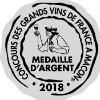Médaille d'Argent au Concours des grands vins de France à Macon 2018