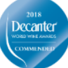 Comended au Decanter World Wine Awards 2018