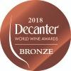 Médaille deBronze auConcours Décanter 2018