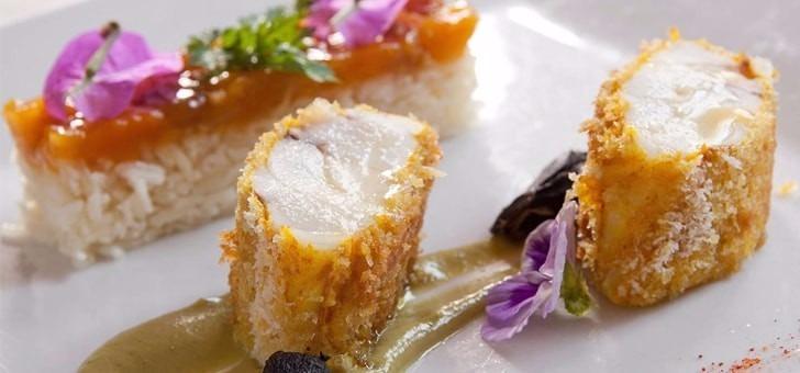 Restaurant du Château des Fines Roches à Châteauneuf-du-Pape, cuisine gastronomique Française à la carte de cet établissement avec menu du marché