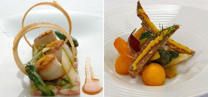 a-gauche-coquilles-st-jacques-snackees-poudre-iodee-asperges-de-m-allegret-et-reduction-d-agrumes-a-droite-bouillabaisse-vegetale