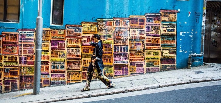 street-art-dans-ruelles-d-old-town-central-vieille-ville-de-hong-kong