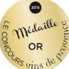 Médaille d'Or au Concours des vins de Provence 2018