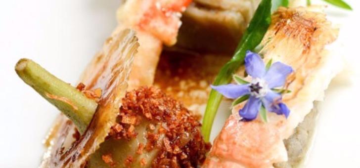 restaurant-ar-men-du-a-nevez-produits-frais-de-qualite-carte-jour-langoustines-mi-cuites-et-roties-artichauts-et-presse-de-carapac-tartare-de-bar-de-ligne-et-creme-legere