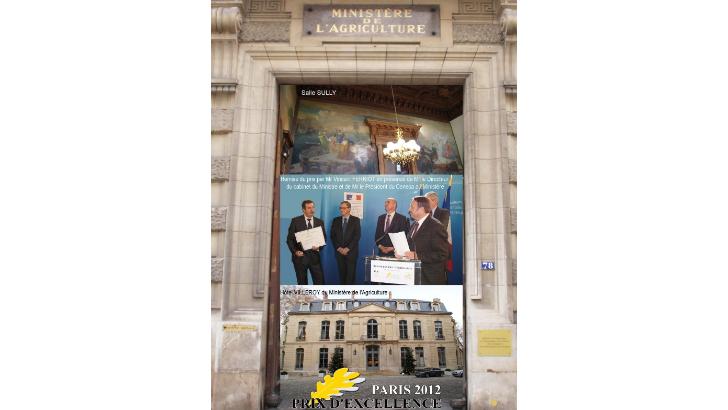 champagne-andre-brochot-remise-de-prix-d-excellence-au-ministere-de-agriculture